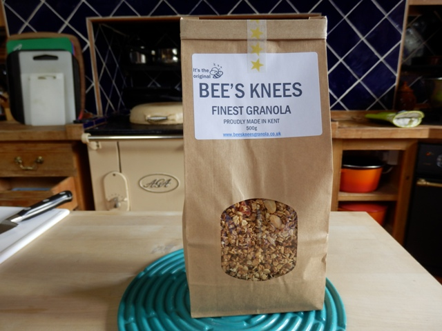 BEES KNEES GRANOLA factory - my Aga!