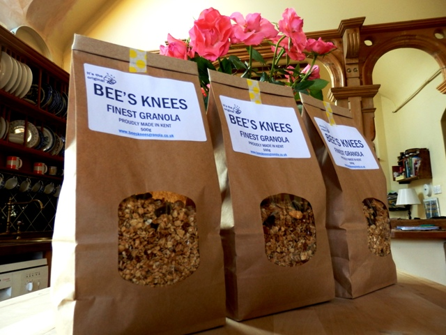 Bees Knees Granola waiting to go
